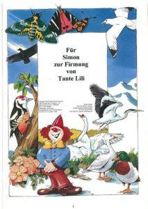 Naturbuch Widmungseite