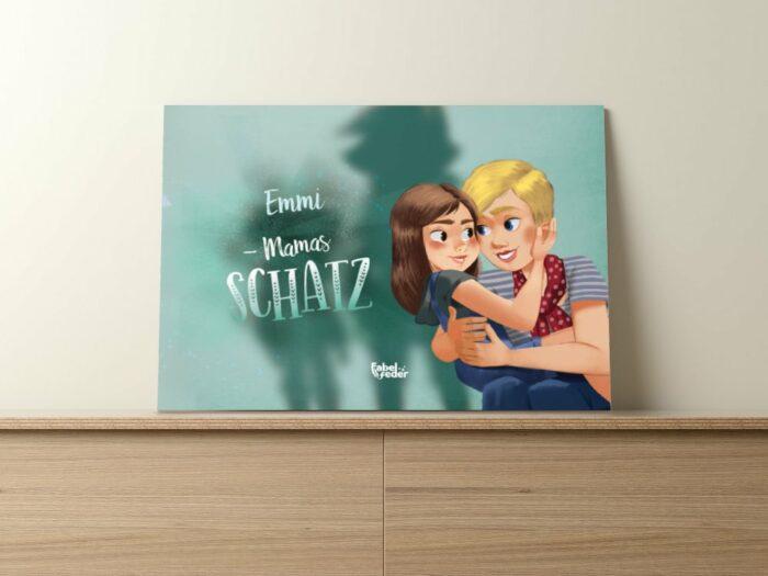 personalisiertes Buch für Mutter und Kind